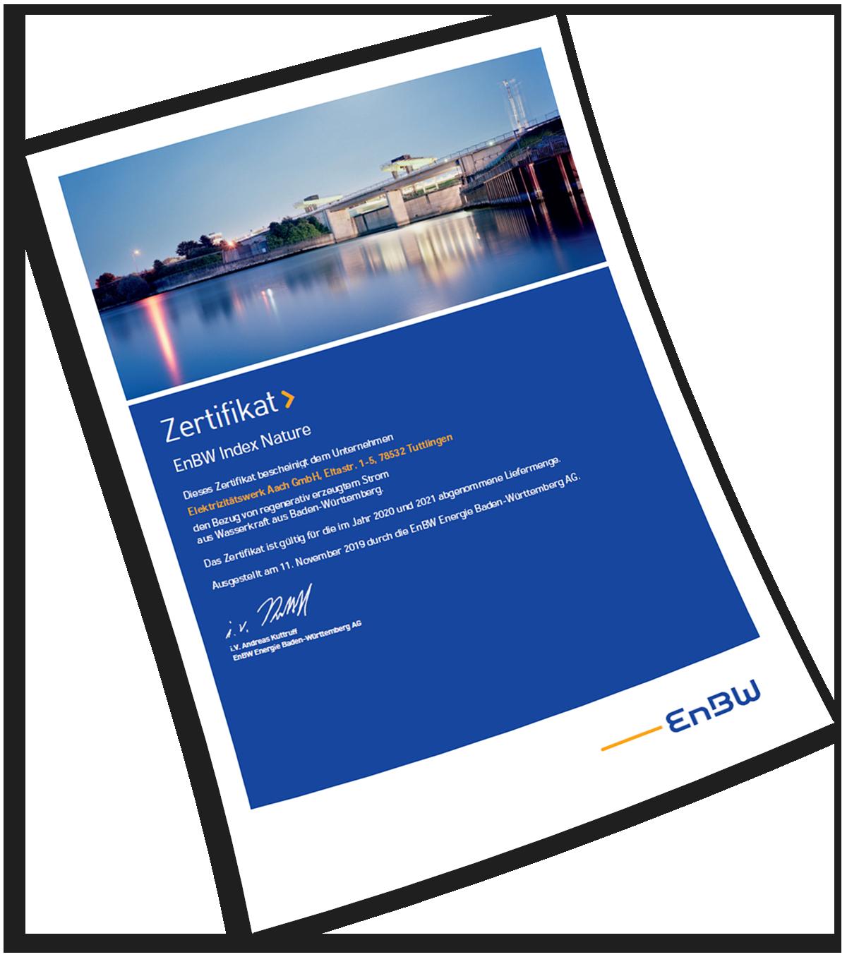 EnBW-Zertifikat